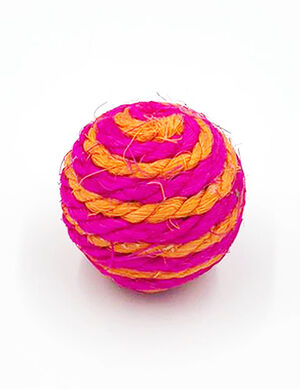 Sisal Rope Catch Cat Ball Orange & Pink -  Cats product
