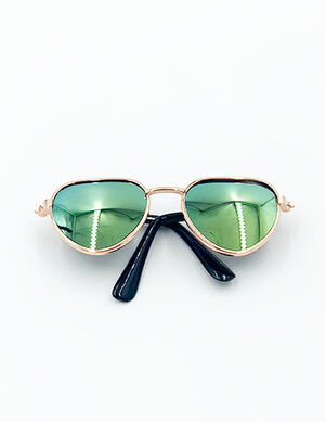 Small Fashion Pet Sunglass Green