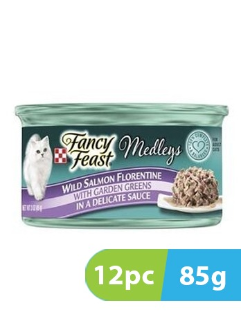 Purina Fancy Feast Medleys Florentine Salmon 12pc x 85g