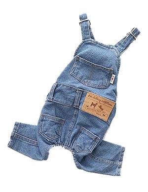 Pet Blue Jeans Overall Small