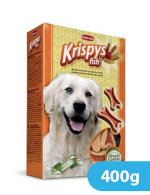 Padovan Krispys Fish Dog Treats 400gm
