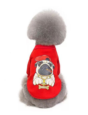 Funny Pets Logo T-Shirt Red Medium
