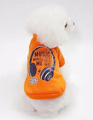 Funny Pets Logo T-Shirt Orange Medium
