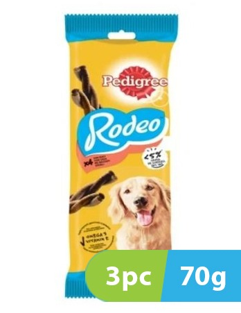 Pedigree Rodeo Beef Dog Treat 3pc x 70g