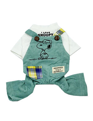 Snoopy Overall Blue X-Large