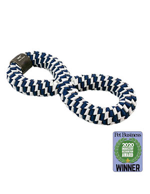 Tall Tails Braided Infinity Toy Large Navy