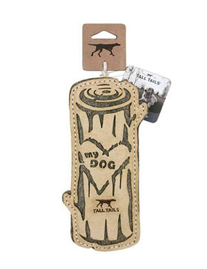 Tall Tails Natural Leather Toy Love my Dog Logo Medium