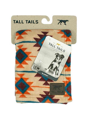 Tall Tails Southwest Blanket Blue/Red/White