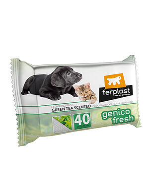 Ferplast Genico Fresh Wipes Green Tea