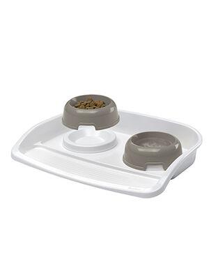 Ferplast Lindo Tary & Bowls Small Grey