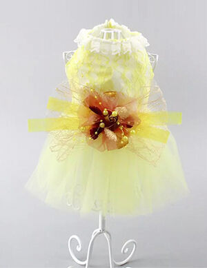 Yellow Party Dress Large