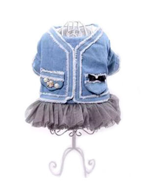 Light Blue Jeans Dress X-Large -  Dogs product
