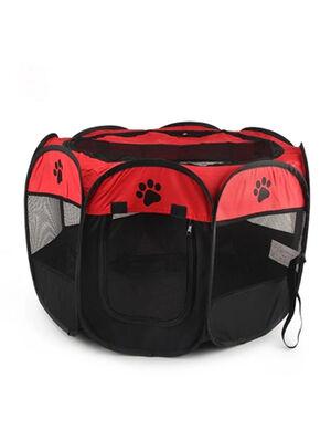Portable Folding Pet Tent Red Large