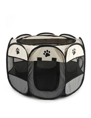Portable Folding Pet Tent Gray Large