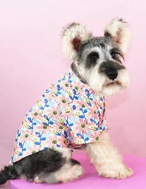 Pet Flower Print Shirt Large
