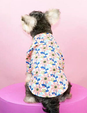 Pet Flower Print Shirt Medium -  Dogs product