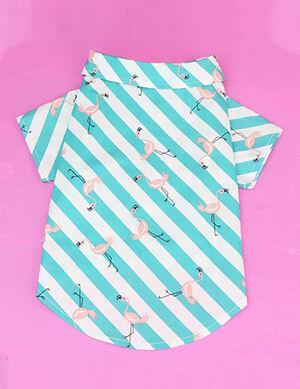Pet Flamingo Print Shirt Medium -  Dogs product