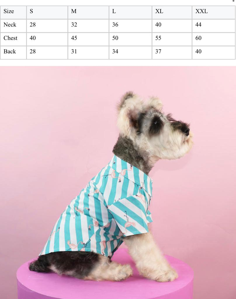 Pet Flamingo Print Shirt Small -  Dogs product