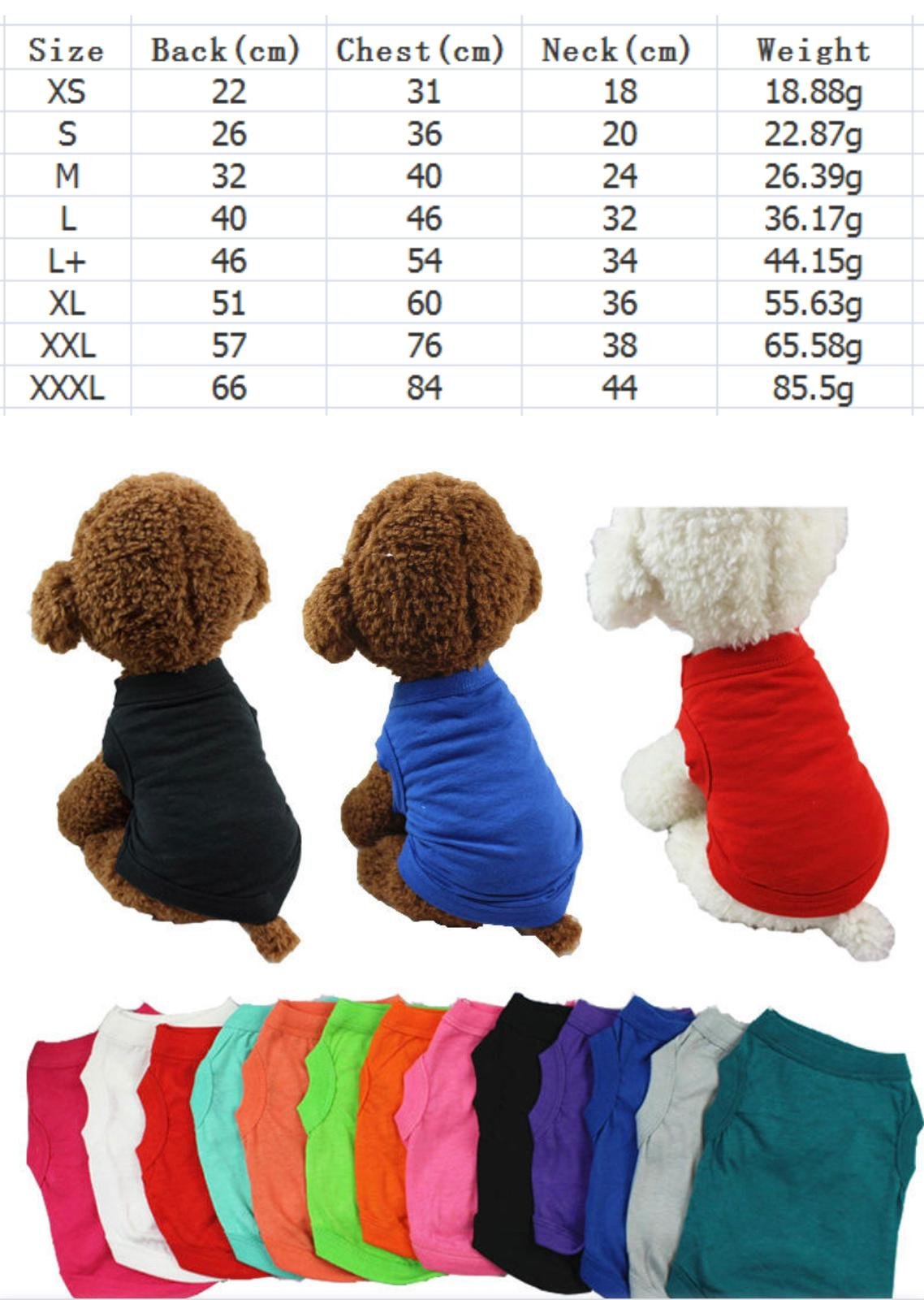 Plain Blue T- Shirt Small -  Dogs product