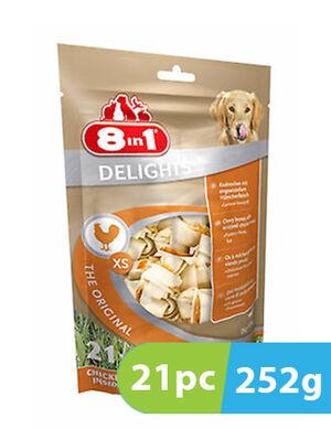 8in1 Delights XS Chicken 21 bones x 252g