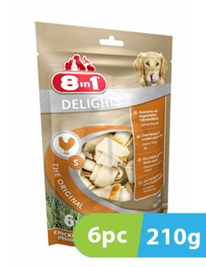 8in1 Delights Chicken Small 6 Bones x 210g