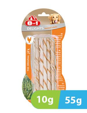 8in1 Delights Chicken Twisted 10 sticks x 55g