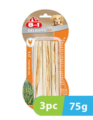 8in1 Delights Chicken 3 Sticks x 75g