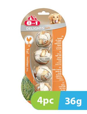 8in1 Delights Chicken Small 4 Balls x 36g
