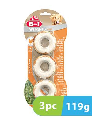 8in1 Delights Chicken 3 Rings x 119g
