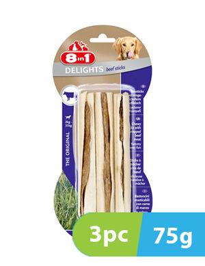 8in1 Delights Beef 3 Sticks x 75g