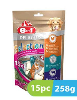 8in1 Delights Selection 15bones x 248g
