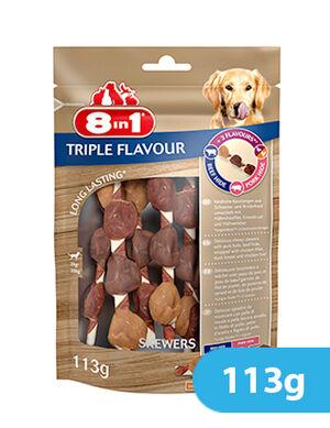 8in1 Delights Triple  Flavour Skewers 113g