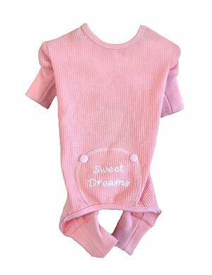 Doggie Design Sweet Dream Thermal Pajamas Pink XS