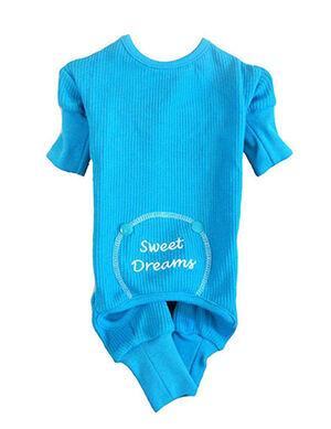 Doggie Design Sweet Dream Thermal Pajamas Blue Small