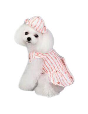 Pink & White Hat Dress Small