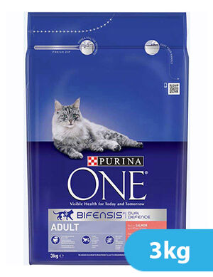 Purina One Adult Cat Salmon and Whole Grain 3kg
