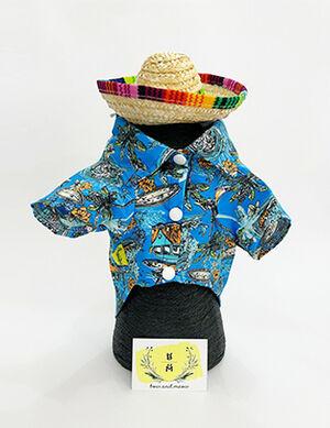 Blue Hawaiian Shirt X-Large -  Dogs product