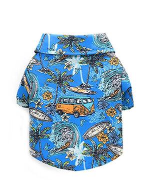 Blue Hawaiian Shirt Large