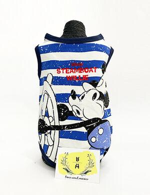 Blue Stripes Mickey Sailor Blouse Large