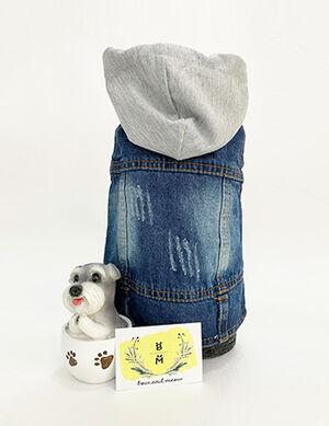 Blue Denim Vest with Hat Large