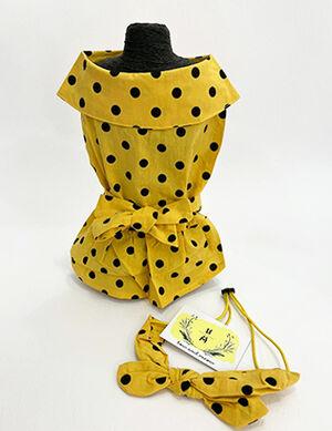 Yellow Dress with Headband X-Large