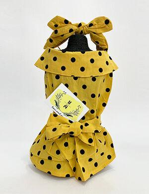 Yellow Dress with Headband Medium -  Dogs product
