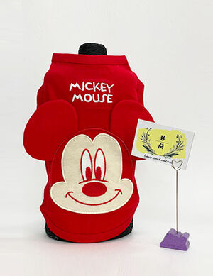 Red Mickey Ears Blouse X-Large