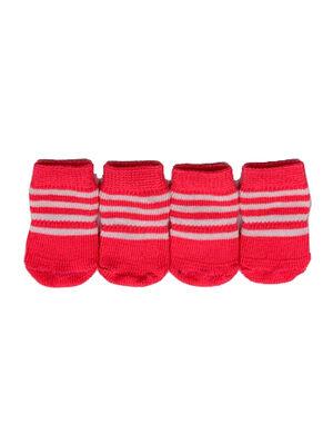 Pet Socks Strips Pink Small