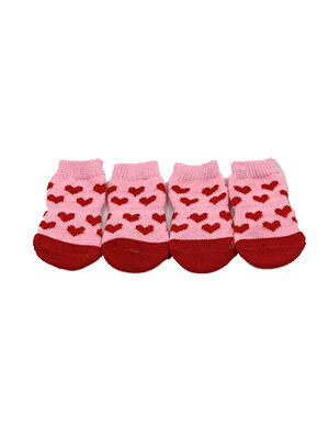 Pet Socks Heart Pink Medium