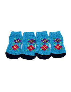 Pet Socks Blue Medium