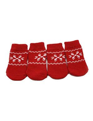Pet Socks Red Large