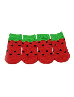 Pet Socks Watermelon Print Large