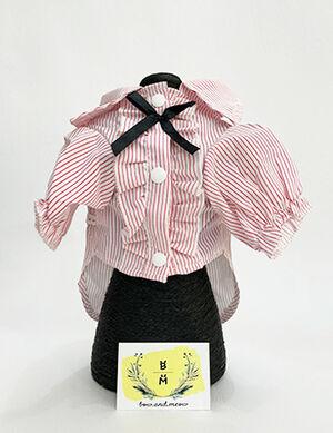 Pink & White Stripe Shirt Medium