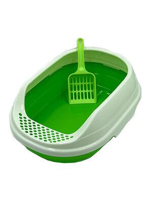 Small Cat Litter Box Green